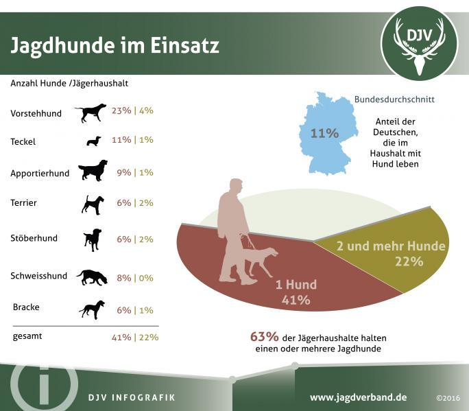 Statistik: Jagdhunde im Einsatz 2016