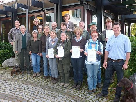 Die ersten Naturpädagogen wurden 2012 in Esslingen ausgezeichnet. (Foto: Pütz/DJV)