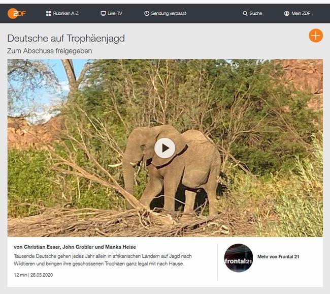 """Ein ZDF-Beitrag des Investigativ-Formats """"Frontal21"""" zeichnet ein verzerrtes Bild der Auslandsjagd und ihres Beitrages zum weltweiten Artenschutz."""