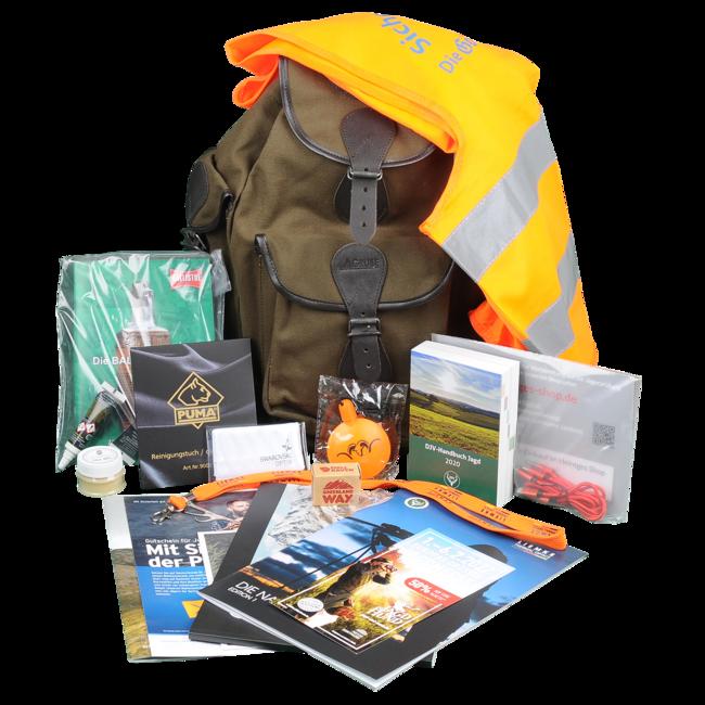 Das Junjägerpaket enthält hochwertige Begleiter für den Jagdalltag. Inhalt kann geringfügig variieren.