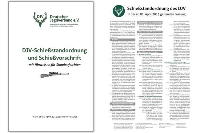 Die neue DJV-Schießstandordnung und -Schießvorschrift.