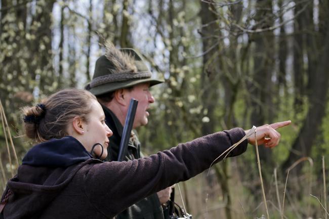 Jäger auf der Jagd