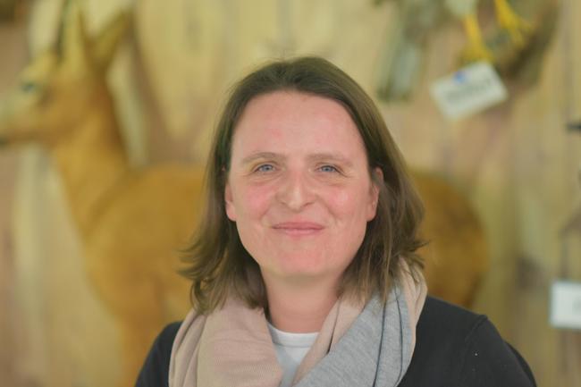 Lehrerin Heike Meyer auf der didacta in Köln
