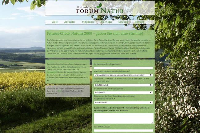 Umfrage zu EU-Naturschutzstandards