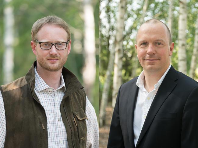Auf dem Bundesjägertag hat Andreas Leppmann (l.) das Amt des DJV-Geschäftsführers an Olaf Niestroj (r.) übergeben.