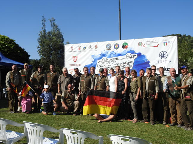 Teilnehmer der Europameisterschaft im jagdlichen Schießen aus Deutschland