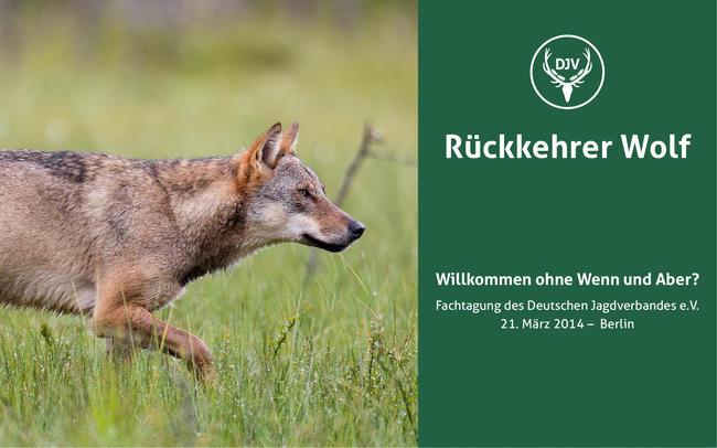 Wolfstagung in Berlin 2014, Foto: Rolfes/DJV