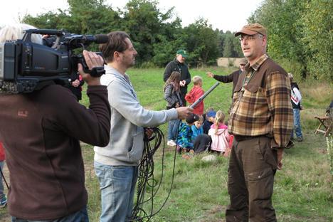 Kamerateam bei Lernort Natur