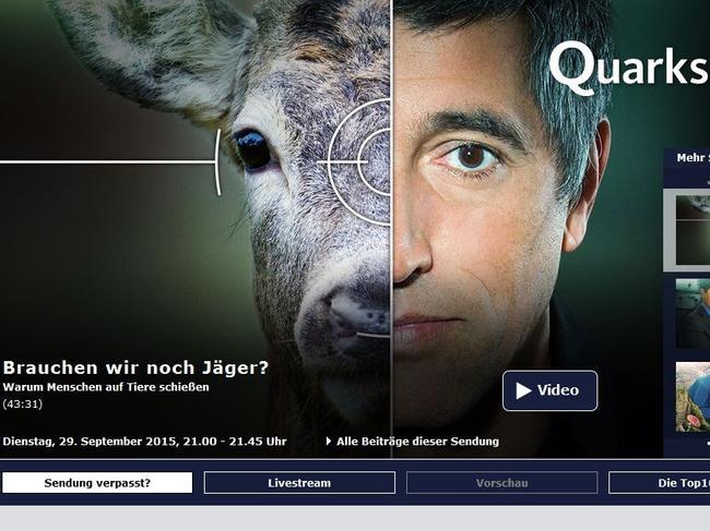 Titelbild der Quarks & Co.-Sendung: Brauchen wir noch Jäger?
