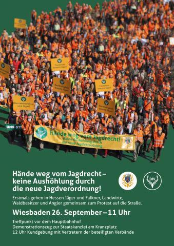 Demoplakat Hessen Druckauflösung