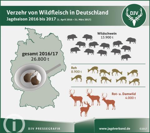Der Verzehr von Wildfleisch in Deutschland (Quelle: DJV)