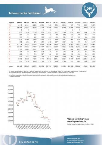 Feldhase: Jagdstatistik 2006-2017