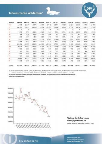Wildente: Jagdstatistik 2006-2017