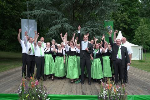 Bundessieger Klasse G: Gruppe der Kreisjägerschaft Krefeld aus Nordrhein-Westfalen