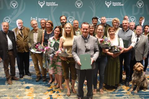 Sonderpreis Kommunikation: Alle Preisträger Gruppenbild 2019 in Berlin (Quelle: Kapuhs/DJV)