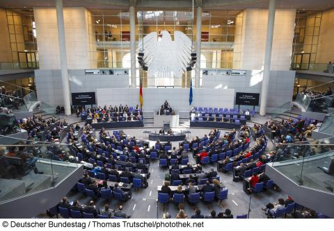 Deutscher Bundestag - Plenum (Quelle: Deutscher Bundestag/Thomas Trutschel/photothek.net)