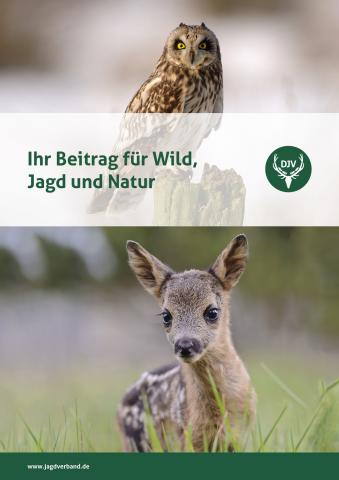 """Titelbild der Erbschaftsbroschüre """"Ihr Beitrag für Wild, Jagd, und Natur"""""""