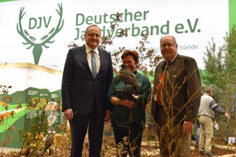 Präsidenten unter sich: Joachim Rukwied (l.), Präsident des Deutschen Bauernverbandes, und Hartwig Fischer (r.), Präsident des Deutschen Jagdverbandes