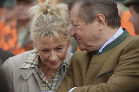 Schwarz-Grün im Gespräch: Ursula Hammann (B90/Die Grünen) und Dr. Walter Arnold (CDU) (Quelle: Arnold/DJV)