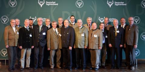 Das Präsidium des Deutschen Jagdverbandes auf dem Bundesjägertag 2016
