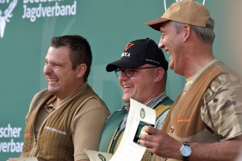 Den ersten Platz in der Schützenklasse/Kombination gewinnt Thomas Dankert mit 346 Punkten, gefolgt von Christoph Hahn aus Rheinland-Pfalz und Alexander Sprick aus Nordrhein-Westfalen.