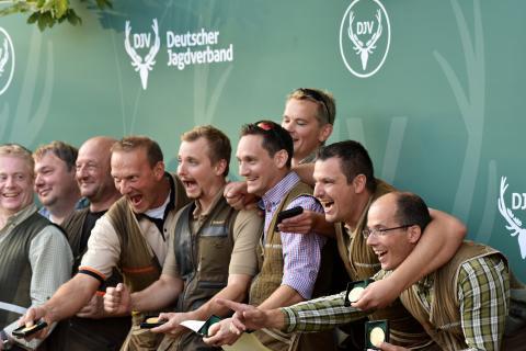 Bundesmeister aller Mannschaften sind die Rheinland-Pfälzer. (Quelle: Kapuhs/DJV)