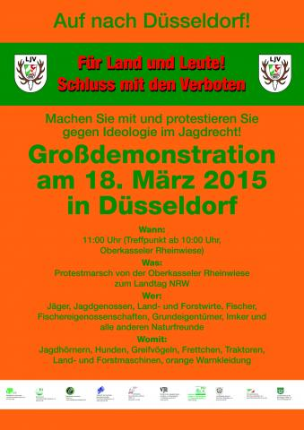 Demonstrationsaufruf Düsseldorf