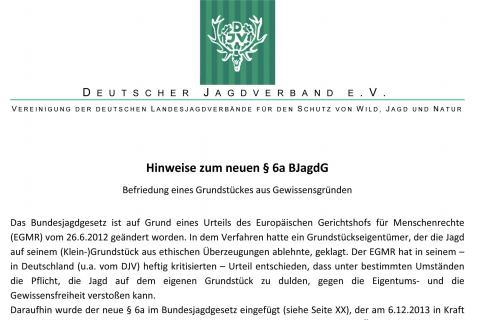 DJV Hinweise zum neuen BJagdG (Quelle: DJV)