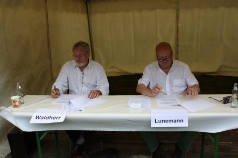 Juroren beim Bundeswettbewerb in Kranichstein
