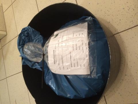 Korrekt verschnürtes Paket