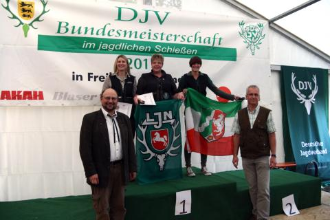 Siegerinnen Kombination (1. Carmen Wilshusen, 2. Verena Alberding, 3. Beate Reichhardt) (Quelle: Hunger/DJV)