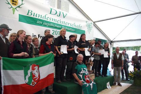Siegerinnen Mannschaftswertung (1. Niedersachsen, 2. Hessen, 3. Nordrhein-Westfalen) (Quelle: Kristin Hunger)