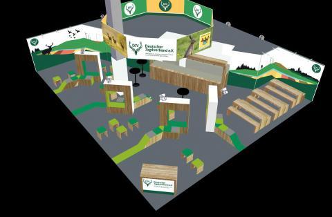 Konzeption des neuen DJV-Messestandes auf der Grünen Woche 2015.