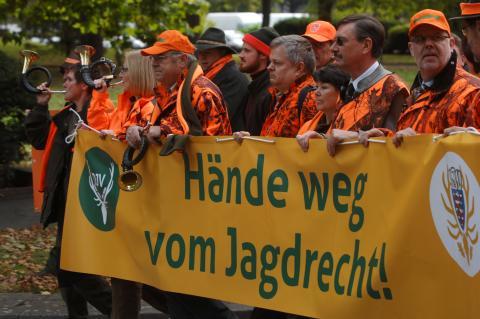 Hände weg vom Jagdrecht. (Quelle: Seidemann/DJV)
