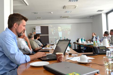 DJV-Pressesprecher Torsten Reinwald begleitet das DJV-Medientraining mit Rat und Tat (Quelle: Kapuhs/DJV)