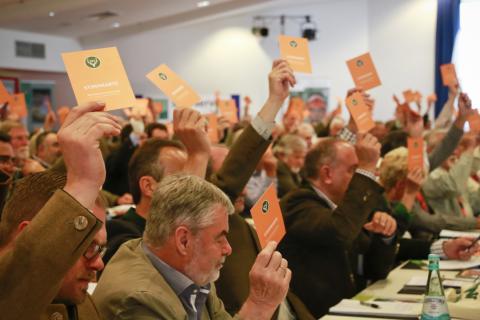 Abstimmung auf dem Bundesjägertag 2015