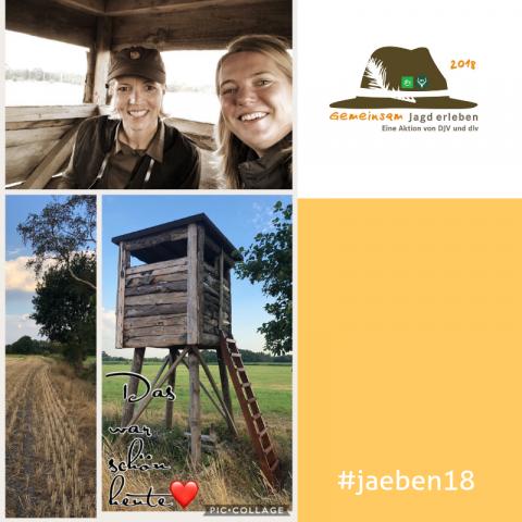 Gemeinsam Jagd erleben 2018 Katrin und Frauke