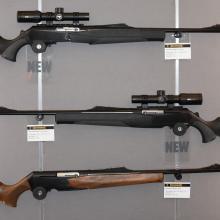 Vorstellung von halbautomatischen Jagdwaffen auf der Internationalen Waffenausstellung in Nürnberg 2016