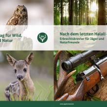 """Die Informationsmappe """"Erbschaften"""" enthält die Broschüre """"Ihr Beitrag für Wild, Jagd und Natur"""" und den Erbrechtsleitfaden """"Nach dem letzten Halali"""""""