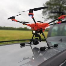 """Drohne """"Bambi"""" im Einsatz."""