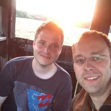 Jäger Karsten Jacobs mit Jagdgast