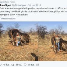 Screenshot eines Tweets von AfricaDigest