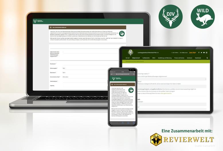 Über die Seite portal.jagdverband.de können Revierinhaber ihre Monitoring-Ergebnisse jetzt online erfassen.