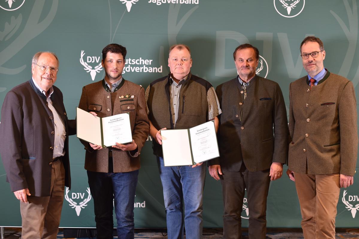 Sonderpreis Kommunikation: Sonderpreis Rupprecht Walch und Dieter Hampl, Mitglieder des Landesjagdverbandes Baden-Württemberg (Quelle: Kapuhs/DJV)