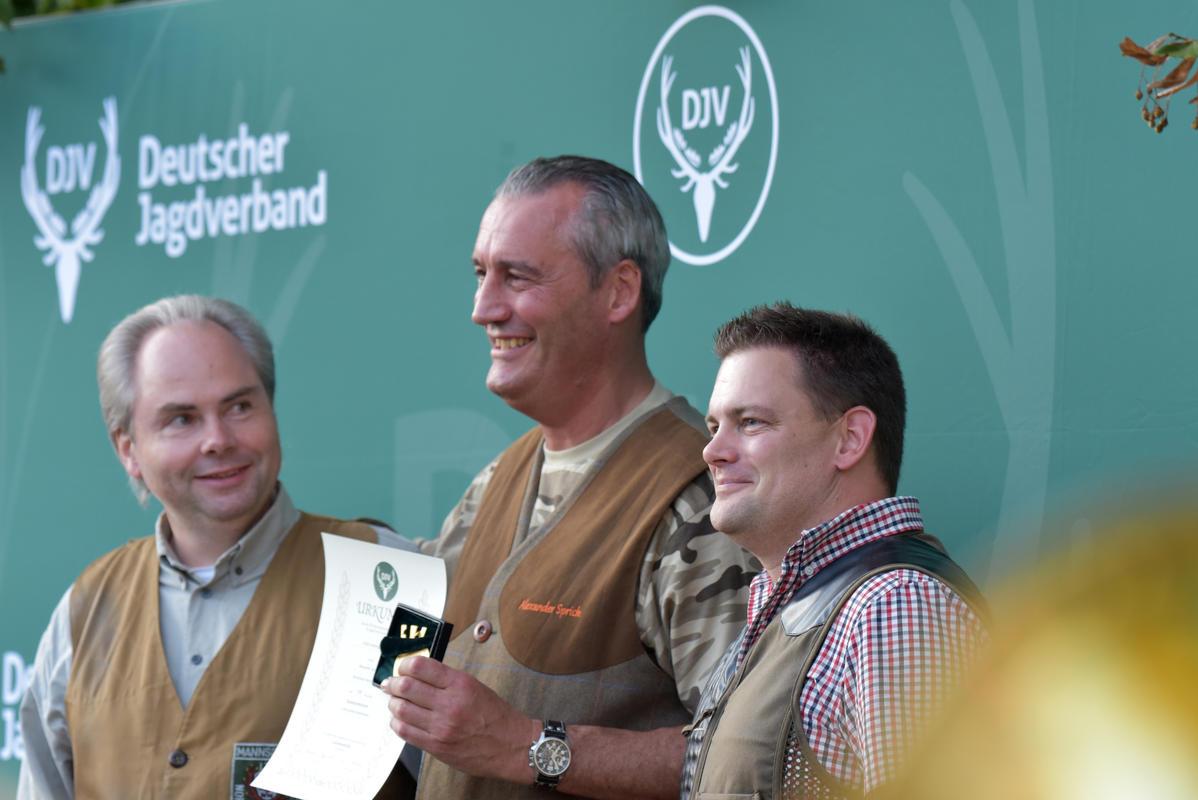 Den ersten Platz in der großen Kombination gewinnt Alexander Sprick aus Nordrhein-Westfalen mit 538 Punkten, gefolgt von Ingo Brammer aus NRW und Axel Merten ebenfalls aus NRW. (Quelle: Kapuhs/DJV)