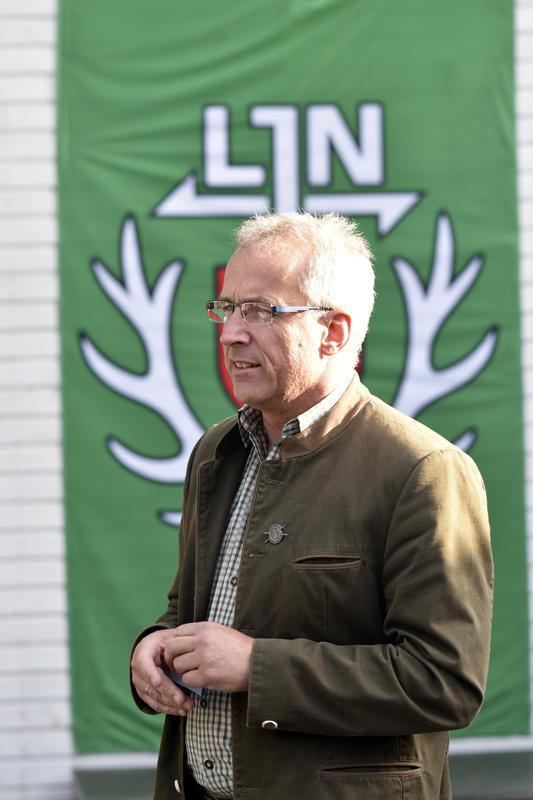 Holger Bartels, Präsident LJV Bremen, eröffnet die DJV-Bundesmeisterschaft: