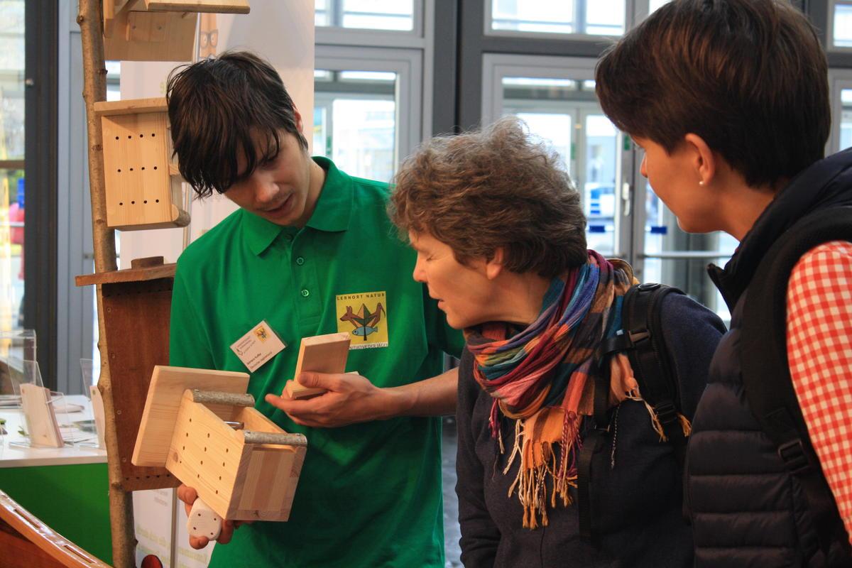 Besucher interessierten sich vor allem für die Solitär-Bienenhäuschen