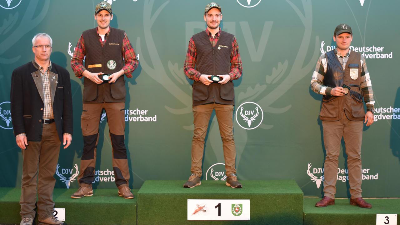Sieger, Kombination, Junioren: 1) Daniel Deters (Niedersachsen), 2) Matthias Avenriep (Niedersachsen), 3) Jan-Ole Petersen (Schleswig-Holstein) (Quelle: Kapuhs/DJV)