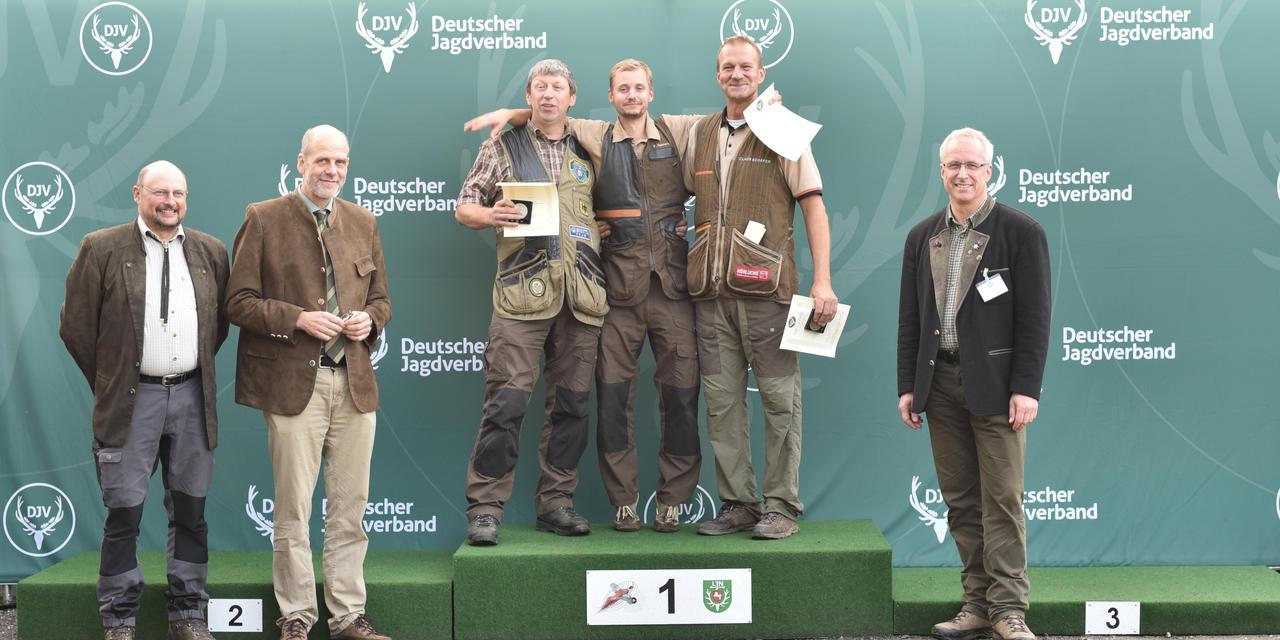 Sieger, Kombination, offene Klasse: 1) Philipp Sehnert (Rheinland-Pfalz), 2) Uwe Persch (Saarland), 3) Claus Schäfer (Rheinland-Pfalz) (Quelle: Kapuhs/DJV)