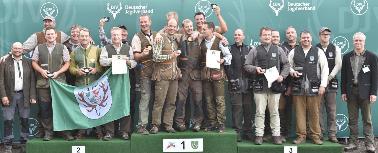 Sieger, Mannschaft, Offene Klasse: 1) Rheinland-Pfalz, 2) Nordrhein-Westfalen, 3) Freistaat Thüringen (Quelle: Kapuhs/DJV)
